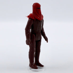Vintage 1983 Imperial Guard Figurine  Vintage 1983 Imperial Guard Figurine, missing cape. It has moveable arms and legs!  Measures 4 x 1.75 x .75 inches.  Condition: Good condition, some markings on head. There is a scrap of the cloth cape still attached to the head.