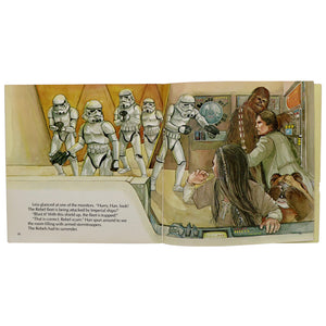 Vintage 1983 Star Wars - The Ewoks Join the Fight Book & Record  The 24 page book with read along record features full-color illustrations, dramatic character dialogue, and authentic sound effects!  Measures 7.25 x 7.25 inches.