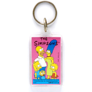 Vintage 1989 The Simpsons Keychain  Choose from four different styles!  Measures 3.5 x 1.5 inches. Variation 2.