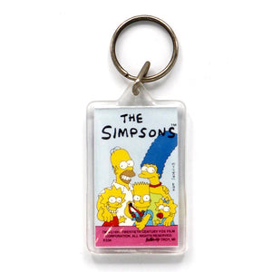 Vintage 1989 The Simpsons Keychain  Choose from four different styles!  Measures 3.5 x 1.5 inches. Variation 5.