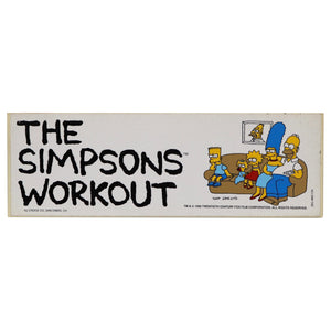 "Vintage 1990 The Simpsons Bumper Sticker   ""The Simpsons Workout""  Measures 3 x 9 Inches."