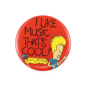 Vintage 1993 Beavis & Butthead Pinback Button by MTV.  Add a little flair to your jacket, backpack or tote with this Vintage Cool Music Pinback Button!  Measures 2 inches.  Please note that due to everyone's monitor displaying differently, the colors you see may vary.