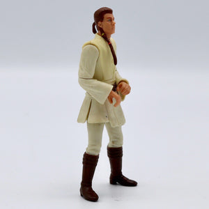 Vintage 1998 Young Obi Wan Kenobi Figurine  Vintage Young Obi Wan Kenobi figurine. It has moveable legs and arms, including at the elbows!  Measures 3.75 x 1.5 x 1 inches.  Condition: Good condition, some discoloration on body/arms/legs. It looks like he may have originally held something in his hands.