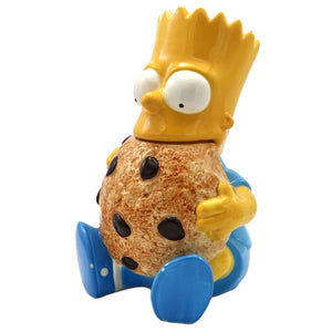 "Vintage Bart Simpson Cookie Jar  Condition: Date stamped 1992. A few chips at feet, cookie, hair and the neck.  Measures 14"" high x 9"" wide x 5.5"" deep  Please note that due to everyone's monitor displaying differently, the colors you see may vary."