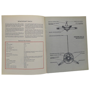 Vintage NASA 1979 Pioneer 11 First to Saturn  This brochure contains artists renderings and diagrams of Saturn and the Pioneer 11 craft. It details the pioneer mission, including mission results.  Measures 10.75 x 8.25 inches