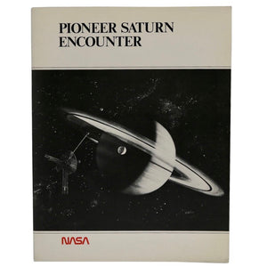 Vintage NASA 1979 Pioneer Saturn Encounter  This 28 page booklet contains photos and diagrams from the Pioneer 10 and 11 spacecraft as they encountered Saturn and its largest moon, Titan.  Measures 11 x 8.5 inches.