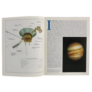 This booklet describes the Voyager mission to Jupiter, including artists renderings of the space craft.  Measures 11 x 8.5 inches