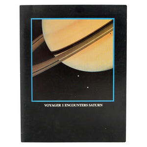 Vintage NASA 1980 Voyager 1 Encounters Saturn.  This 40 page booklet published in December 1980 contains photos and diagrams of Saturn and its moons taken by the Voyager 1 spacecraft.  Measures 11 x 8.5 inches.