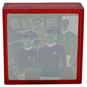 Vintage Star Trek Hologram Box  Vintage Star Trek Hologram Box, colors look different from every angle!  Measures 2 x 2 x .75 inches.