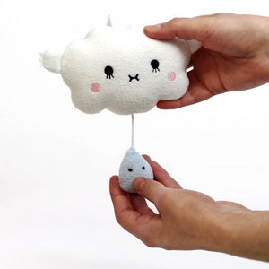 Ricehush Cloud Music Mobile - White