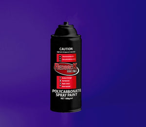 REDBACK RACING PAINT, P.CARB,TRANS. PURPLE, 180ML SPRY RBPCS045