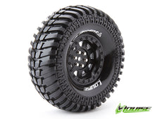 "Louise 1.9"" CR Ardent Tyres on Black 9 Spoke Rims - Glued Wheels 2Pcs"