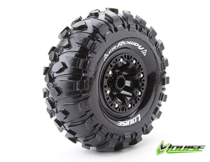 "Louise 2.2"" CR Rowdy Tyres on Black 8 Spoke Rims - Glued Wheels 2Pcs"