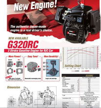 Zenoah G320RC 32cc 4 Bolt 2 Stroke Engine /w Walbro WT-1107 Carburetor