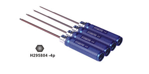 HSP Blue Aluminium 1.5,2.0,2.5,3.0mm Ball Hex Driver Set 4Pcs