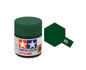 Tamiya X-5 Green Gloss Acrylic Paint 10ml #81505