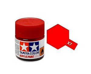 Tamiya X-7 Red Gloss Acrylic Paint 10ml #81507