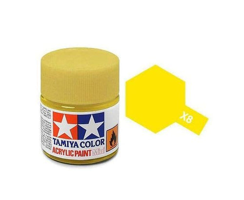 Tamiya X-8 Lemon Yellow Gloss Acrylic Paint 10ml