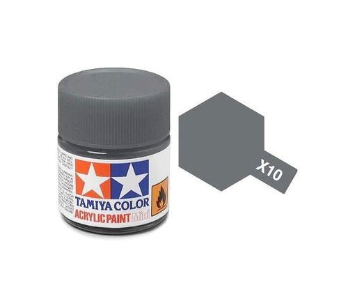 Tamiya X-10 Gun Metal Gloss Acrylic Paint 10ml