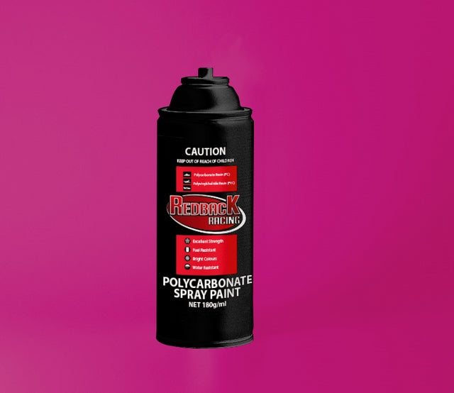 REDBACK RACING PAINT, P.CARB,TRANS. RED, 180ML SPRY RBPCS037