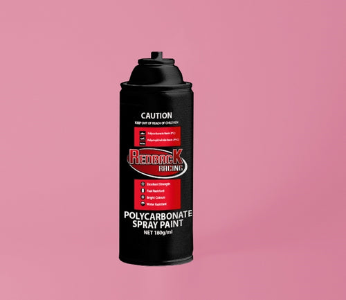 REDBACK RACING PAINT, P.CARB,TRANS. PINK, 180ML SPRY RBPCS040