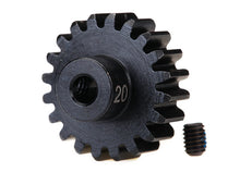Traxxas Gear, 20-T pinion (32-p), heavy duty (machined, hardened steel)/ set screw