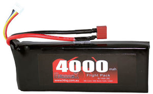 RedBack Racing BATTERY,14.8V LIPO, 4000MAH 30C, FLIGHT