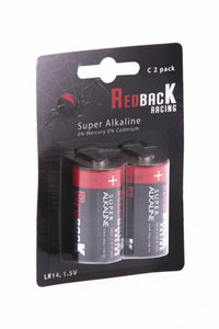 REDBACK RACING BATTERY,C ALKALINE BATTERY 1.5V (2PC) RBBATC