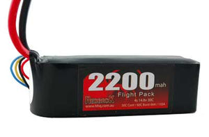REDBACK RACING BATTERY 14.8V LIPO, 2200MAH, 30C, FLIGHT RBLP4C2230