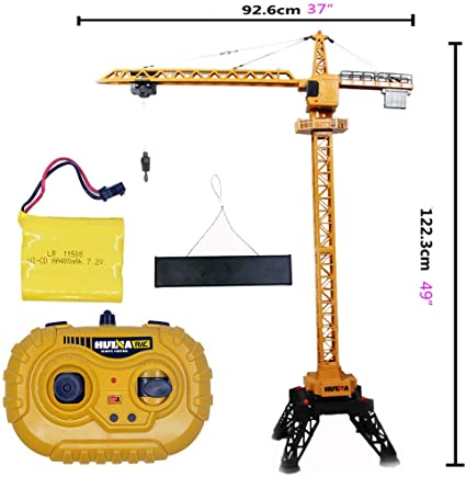 HULNA 1:14 2.4G 12CH RC ALLOY TOWER CRANE #1585