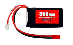 REDBACK RACING BATTERY, 7.4V LIPO, 850MAH 25C, FLIGHT RBLP2C085
