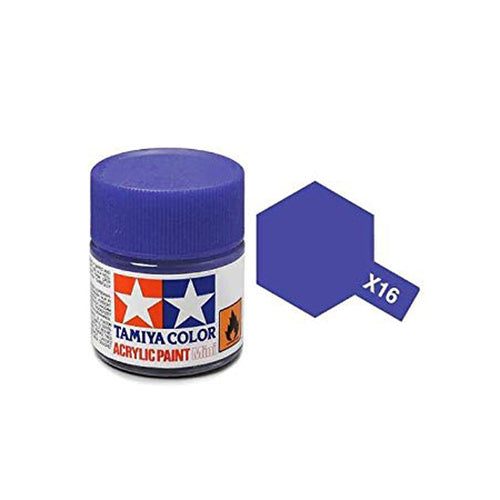 Tamiya X-16 Purple Gloss Acrylic Paint 10ml #TAM-81516