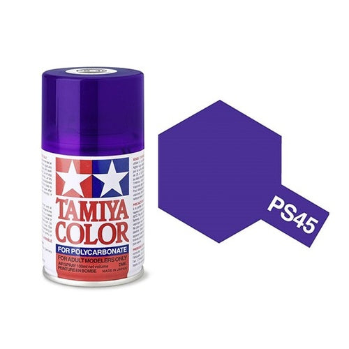 Tamiya PS-45 Translucent Purple Polycarbanate Spray Paint 100ml #TAM-86045