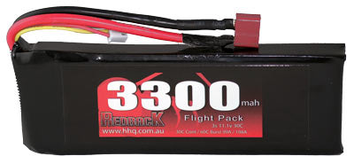 REDBACK RACING BATTERY,11.1V LIPO, 3300MAH 30C, FLIGHT RBLP3C33
