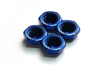 ARGUS 1/8 SCALE Serrated Cap Nut M12*1.25 Blue (4pcs)-Alumina material AG05-260201