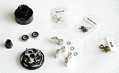 ARGUS 16t Clutch Bell COMBO SET + 34 mm Flywheel (Black)*1 + 3pc Type cluth shoe (Alum)