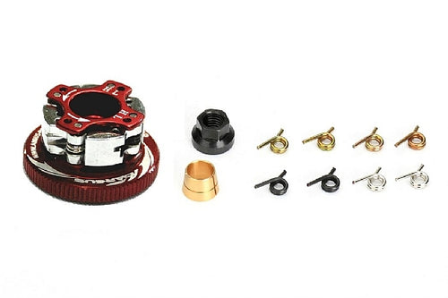ARGUS 4 Shoe Clutches Combo Set (3 types of Springs)+Clutch Nut, 34mmFlywheel(Black)