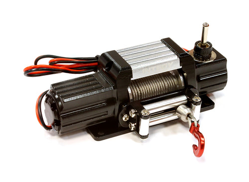 BILLET MACHINED T7 REALISTIC HIGH TORQUE MEGA WINCH FOR SCALE ROCK CRAWLER 1/10