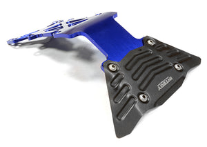 BILLET MACHINED REAR SKID PLATE FOR TRAXXAS 1/10 SCALE E-MAXX BRUSHLESS