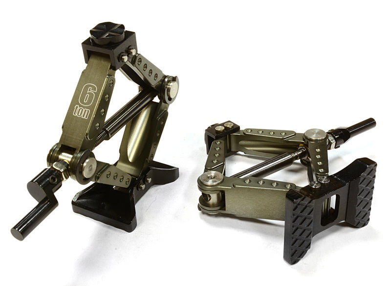REALISTIC MODEL HEAVY-DUTY SCISSOR JACK (2) FOR 1/10 & 1/8 SCALE & ROCK CRAWLER