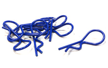 COLOR BENT-UP BODY CLIPS (8) FOR 1/10 & 1/8 SIZE VEHICLES(LXW=37X14MM)