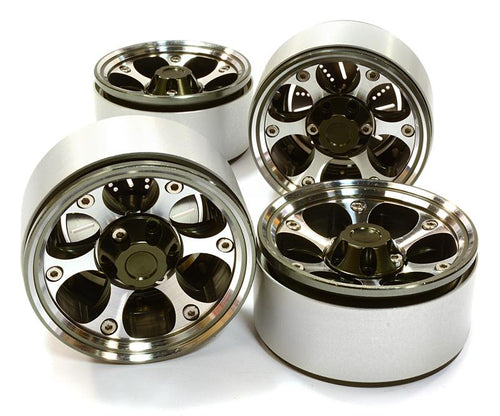 1.9 Size Billet Machined Alloy 6H Spoke Wheel(4)High Mass Type for Scale Crawler #C26615