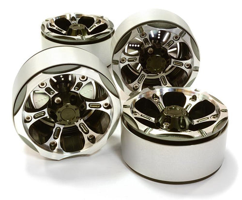 1.9 Size Billet Machined Alloy 6X Spoke Wheel(4)High Mass Type for Scale Crawler C26617GUN