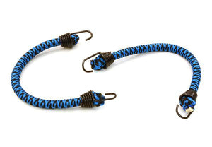 1/10 Model Scale 4x100mm Bungee Elastic Cord Strap w/ Hooks for Off-Road Crawler C26930BLACKBLUE