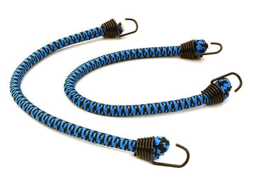 1/10 Model Scale 4x150mm Bungee Elastic Cord Strap w/ Hooks for Off-Road Crawler C26931BLACKBLUE