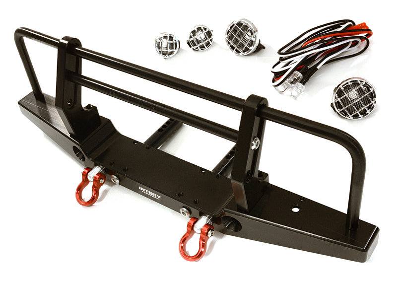REALISTIC FRONT ALLOY BUMPER W/ LED FOR TRAXXAS TRX-4 W/ 43MM MOUNT