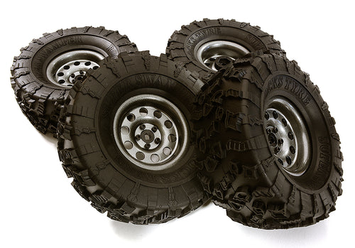 Metal Alloy 2.2 Size Wheel & Tire Set (4) for 1/10 Off-Road O.D. 131mm C28950