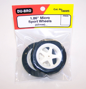 DUBRO 186MS 1.86in MICRO SPORT WHEELS (1 PAIR PER CARD)