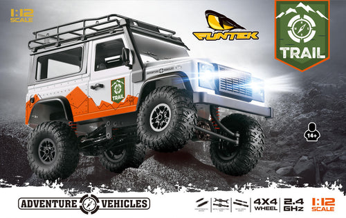 FUNTEK 1/12th Scale 4WD 2.4GHZ READY TO RUN TRAIL ROCK CRAWLER - FTK-TRAIL
