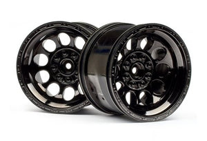 "HPI 3.2"" Bullet Black Chrome Rims 2Pcs #101252"